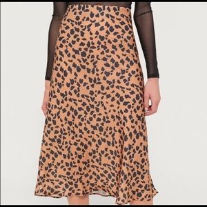 NWT Urban Outfitters leopard midi skirt
